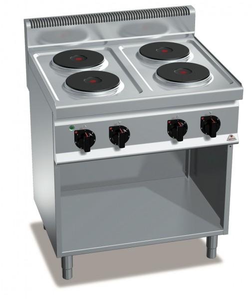 Gastro Elektroherd mit 4 Kochplatten als Standgerät Leistung 10,4kW
