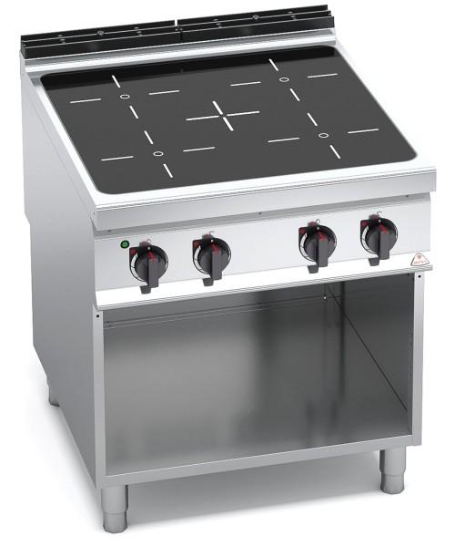 Bertos Gastro Induktions-Herd mit 4 Kochfeld als Standgerät Leistung 4x 5kW
