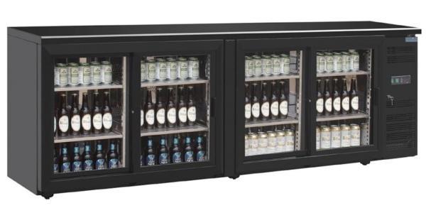 Barkühlschrank mit 4 Glastüren 698 Liter