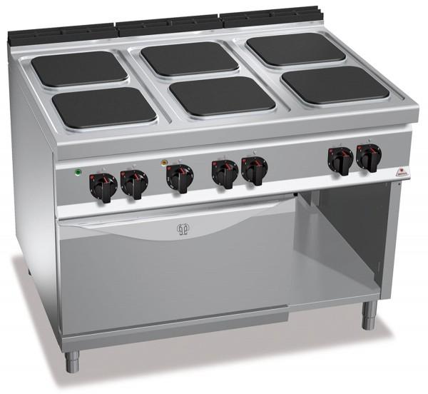 Bertos Gastro Elektroherd mit 6 Kochplatten und Umluft-Backofen bei einer Gesamtleistung 24kW