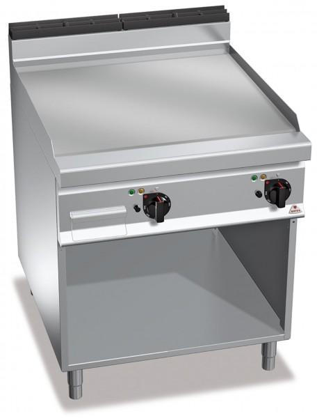 Gastrogeräte Günstig Elektrogrill Chrom- Glatte  Bratenplatte Standgerät Leistung 11,4kW
