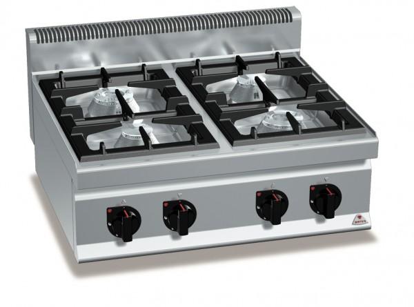 Gastro Gasherd mit 4 Flammen als Tischgerät der Serie 700er MAX-POWER Leistung 28kW