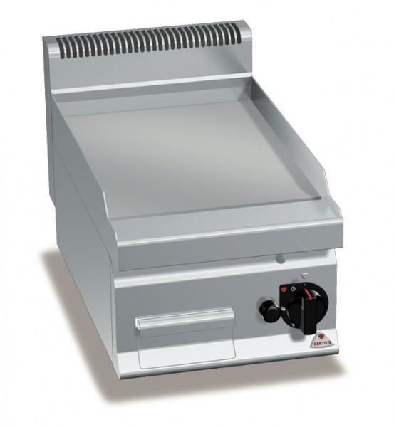 Gastro Gasgrill Glatte/Chrom Bratplatte Tischgerät  6,9kW