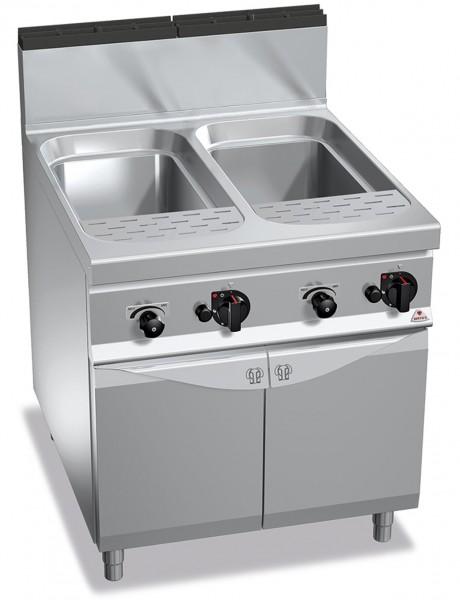 Gas-Nudelkocher 2x 40 Liter Wanne 24kW mit Wasseranschluss