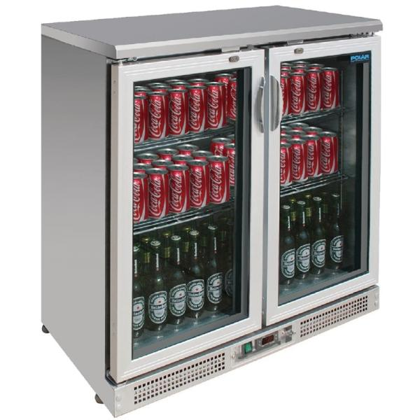Barkühlvitrine mit 2 Glastüren 200 Liter