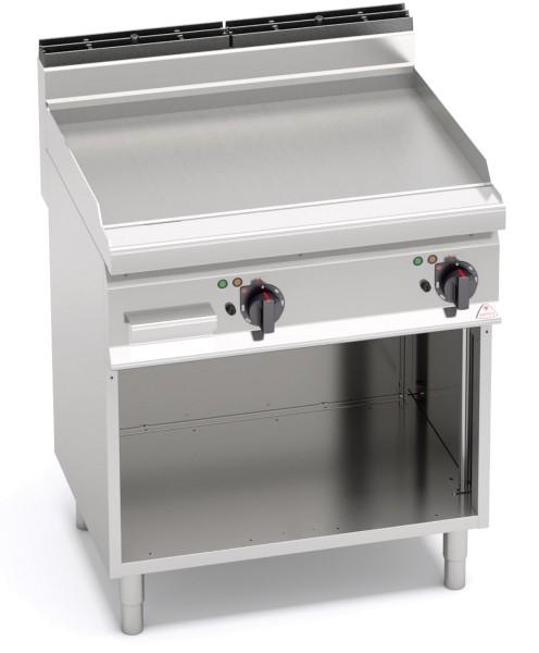 Günstige Gastronomiegeräte Elektrogrill Glatte Bratenplatte 9,6kW