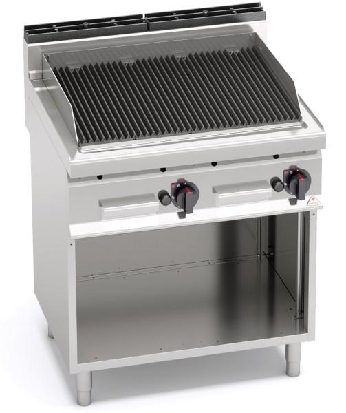 Gastro Gas-Lavasteingrill mit V-Profil Roste Leistung 14kW