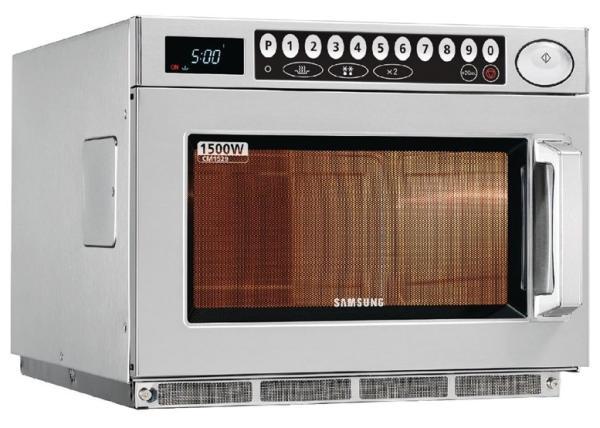 Gastronomie Samsung Mikrowelle 1500W Programmierbar 26 Liter aus Edelstahl