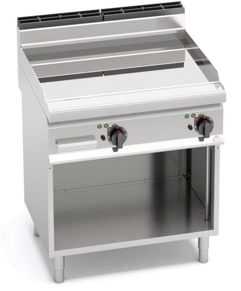 Gastrogeräte Günstig Elektrogrill Glatte Bratenplatte Standgerät Leistung 9,6kW