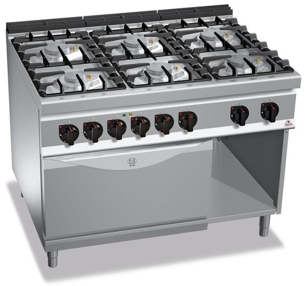 Gastronomie Gasherd mit Elektrobackofen ECO-POWER 48kW mit Pilotflamme