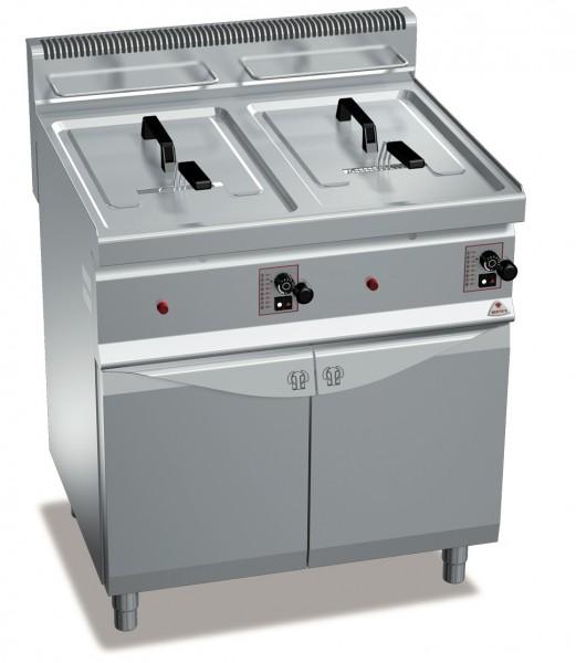 Bertos Gastro Gasfritteuse mit zwei Wannen mit je 20 Liter und der Gesamtleistung 33kW