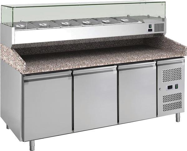 Pizzakühltisch mit Kühlaufsatz