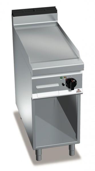 Gastro Elektro Grillgerät Glatte/Chrom  Bratenplatte Standgerät Leistung 5,7kW