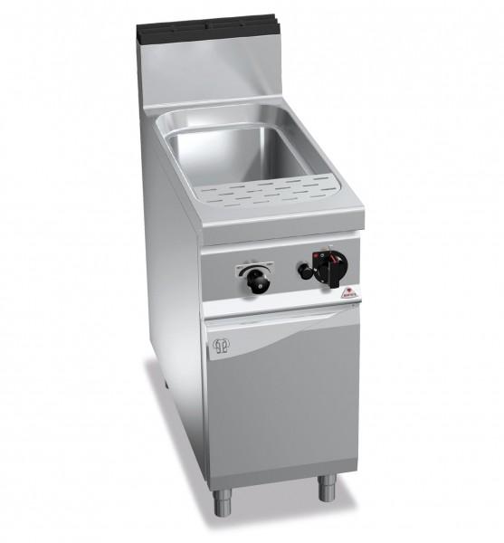 Gas-Nudelkocher 40 Liter Wanne 12kW mit Wasser Zu- und Ablauf Anschluss