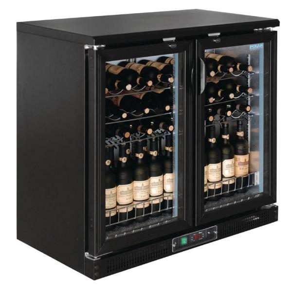 Günstige Weinkühlschrank mit Klapptüren für 56 Flaschen