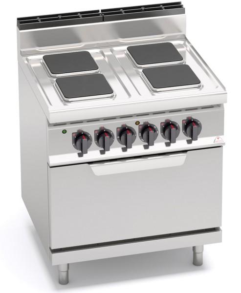 Bertos 4 Platten Elektroküchenherd mit Backofen Leistung 17,9kW der Serie HIGH-POWER