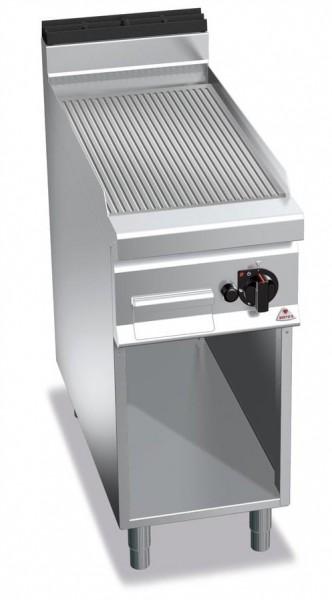 Gastro Gasgrill Gerillte Bratplatte Standgerät  10kW  Serie 900er