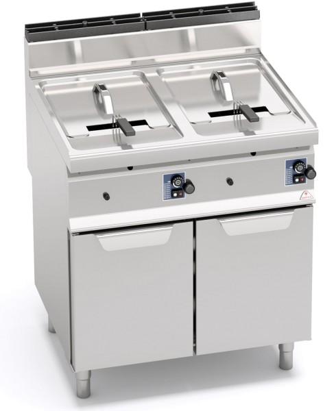 Bertos Gastronomie Gas-Fritteusen als Standgerät mit 2 x 10 Liter Wanne