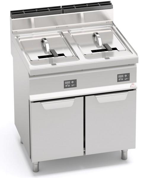 Bertos Gastronomie Elektro-Fritteuse mit zwei 10 Liter Wanne als Standgerät 18kW