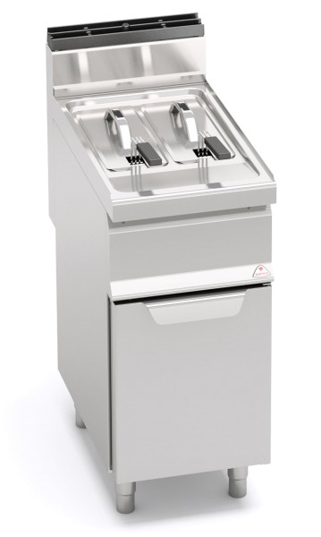Gastro Gasfritteuse 2x 7 Liter 11kW