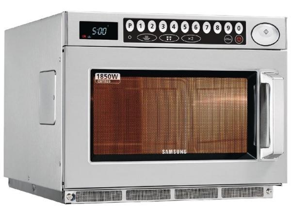 Gastronomie Samsung Mikrowelle 1850W Programmierbar 26 Liter aus Edelstahl