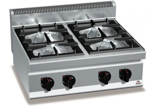 Gastro Gasherd Tischgerät mit 4 Brenner der Serie 700er HIGH Power Leistung 21kW