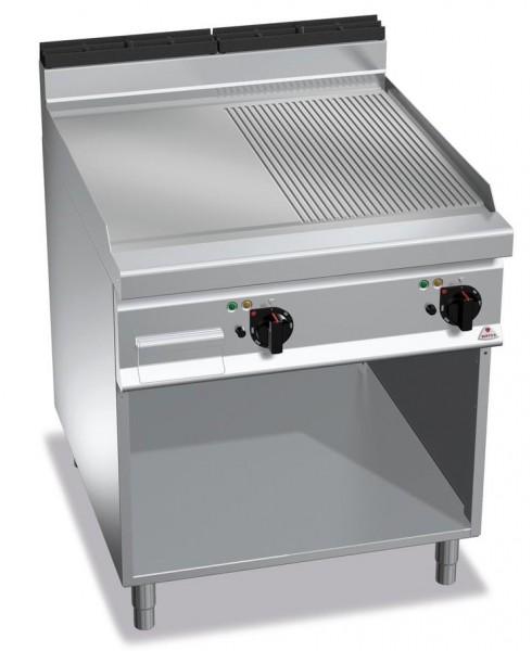 Elektrogrill mit Glatte-Gerillte Platte Standgerät 11,4kW Serie 900er