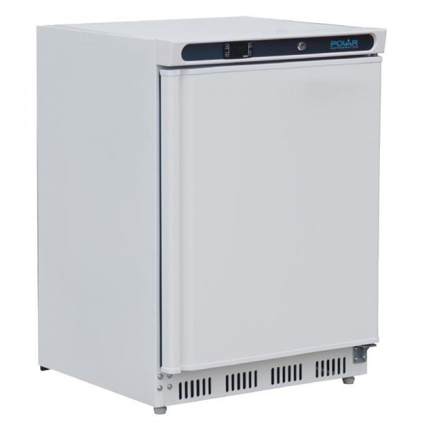 Gewerblicher Kühlschrank aus Stahlblech weiß 150 Liter