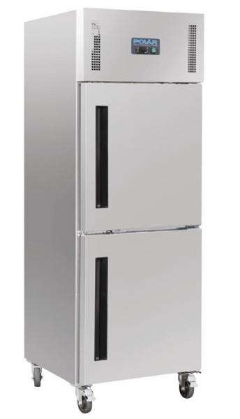 Gewerblicher Kühlschrank 50-50 Tür aus Edelstahl 600 Liter