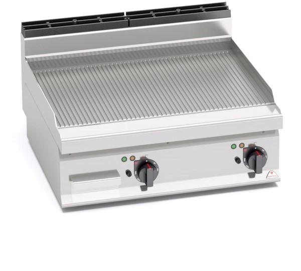 Gastronomie Elektro Tisch-Grillgerät Gerillte Bratenplatte 9,6kW