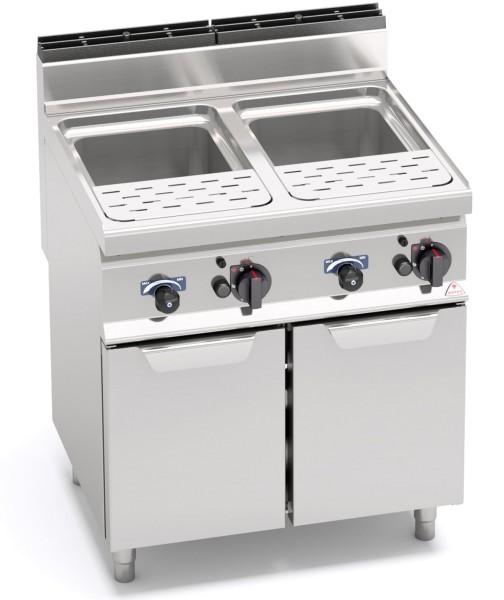 Gas-Nudelkocher 2x 25 Liter Wanne 24kW mit Wasseranschluss