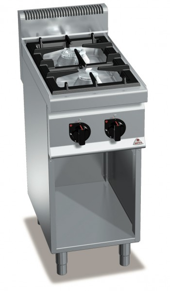 Großküchen Gasherd Standgerät mit 2 Brenner Max Power Leistung 14kW