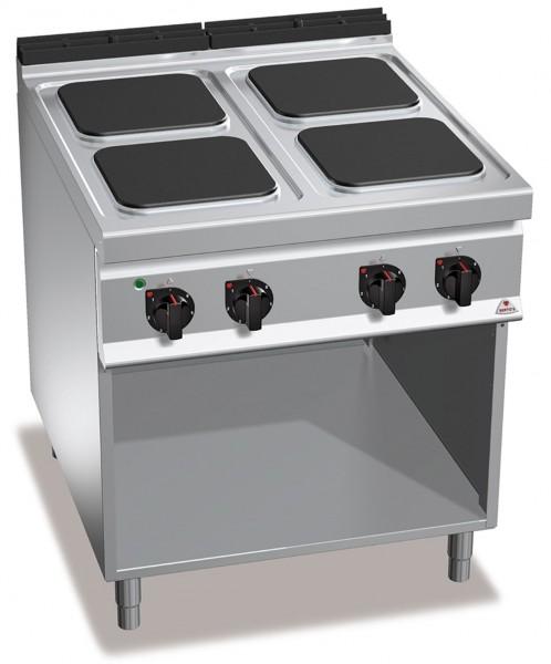 Bertos Gastro Elektroherd mit 4 Platten 30x30cm Leistung 14kW, 4x 3,5kW , 900er Serie