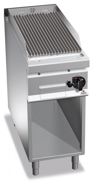 Gastro Gas-Lavasteingrill mit V-Profil Roste Leistung 9kW