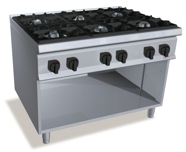 Professionelle Gastronomie Gasherd 6 Brenner  72kW Serie S900er